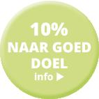10% voor goed doel